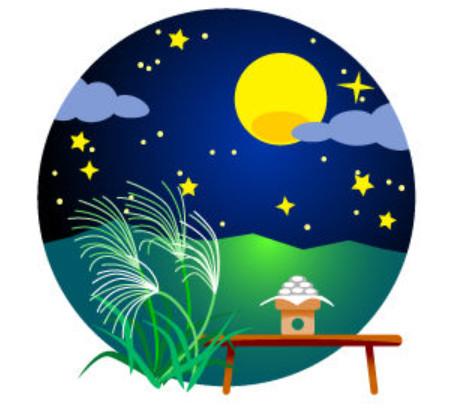 十五夜 お月見 中秋の名月イメージ