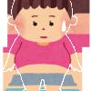 ダイエット女性のイラスト